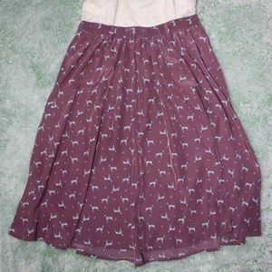 Vintage-Look Purple Dalmatian Skirt